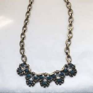 Ann Taylor Loft Teal Statement Necklace